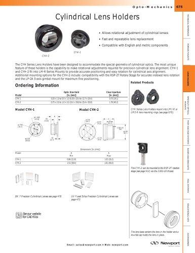 Cylindrical Lens Holders