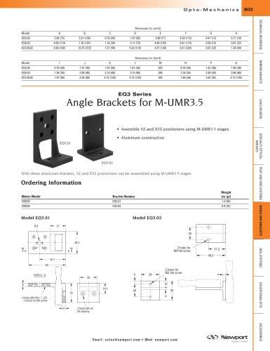EQ3 Series Angle Brackets for M-UMR3.5