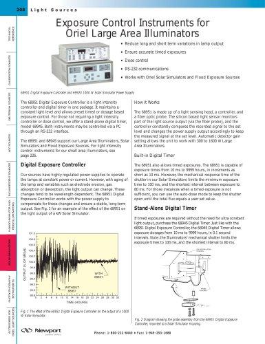Exposure Control Instruments for Large Area Illuminators