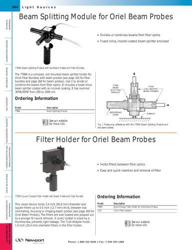 Filter Holder for Beam Probes