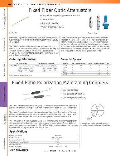 Fixed Fiber Optic Attenuator