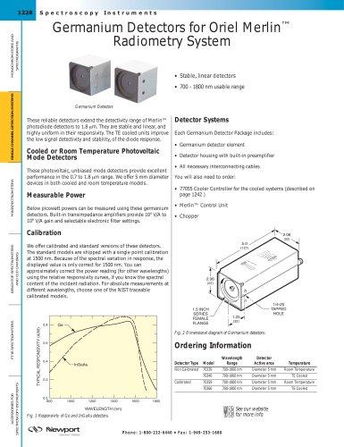 Germanium Detectors for Oriel Merlin™ Radiometry System