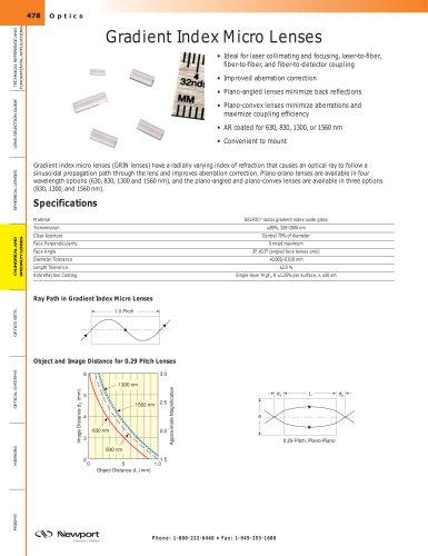 Gradient Index Micro Lenses