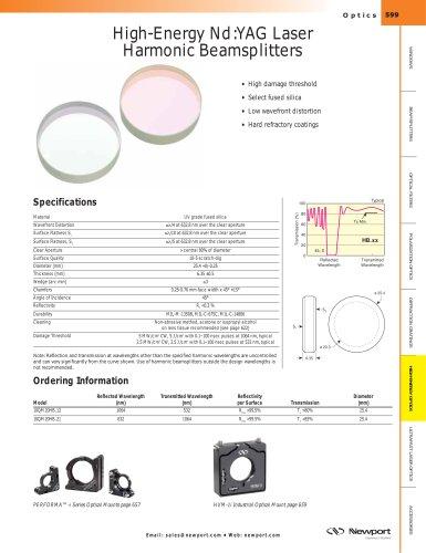 High-Energy Nd:YAG Laser Harmonic Beamsplitters