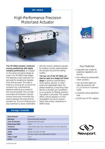 High-Performance Precision Motorized Actuator VP-25AA