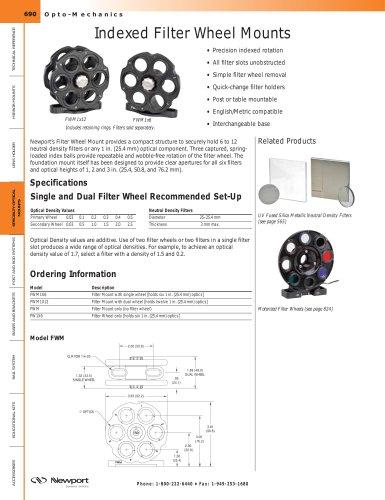 Indexed Filter Wheel Mounts