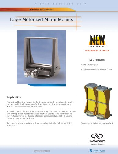 Large Motorized Mirror Mounts