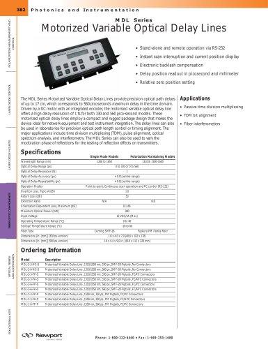 MDL Series Optical Fiber Delay Lines, Motorized