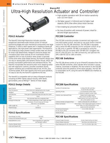 NanoPZ Ultra-High Resolution Actuator and Controller