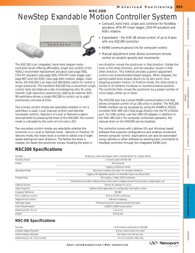 NSC200 NewStep Expandable Motion Controller System