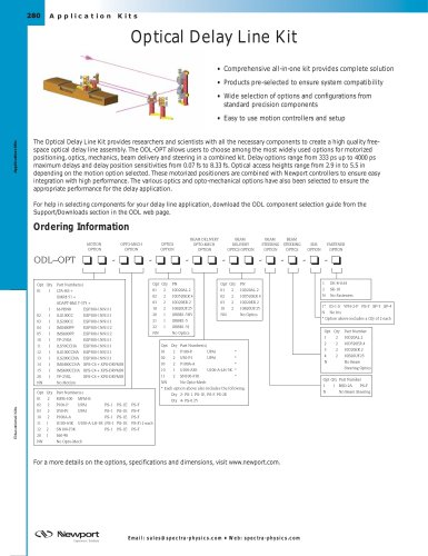 Optical Delay Line Kit