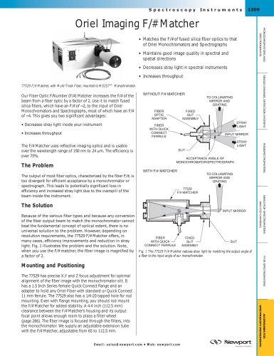 Oriel Imaging F/# Matcher, Oriel X-Y-Z Focusing Lens Assemblies