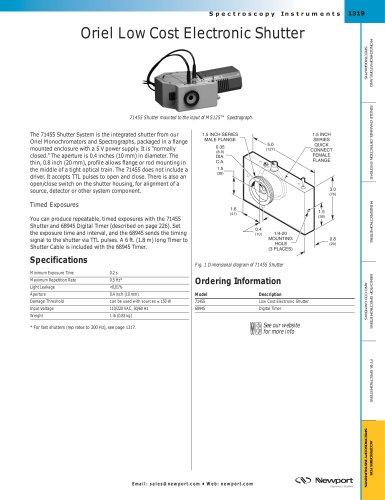 Oriel Low Cost Electronic Shutter