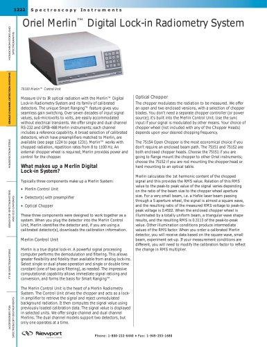 Oriel Merlin™ Digital Lock-in Radiometry System