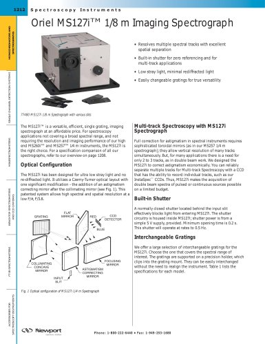 Oriel MS127i™ 1/8 m Imaging Spectrograph