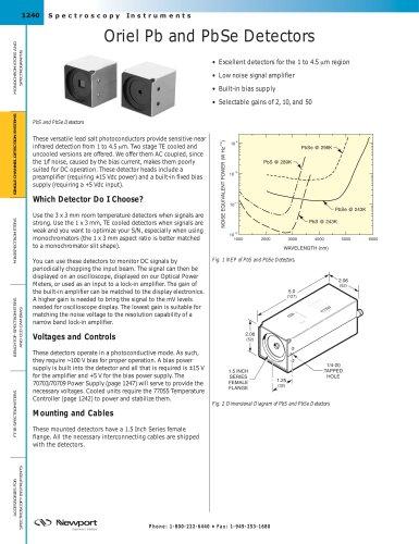 Oriel Pb and PbSe Detectors