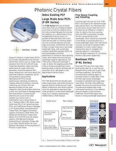 Photonic Crystal Fibers