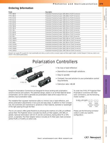 Polarization Controller, Manual