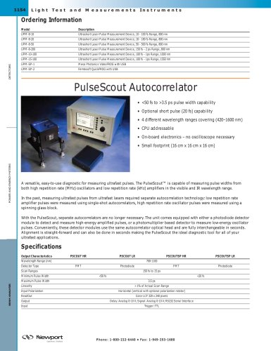PulseScout Autocorrelator
