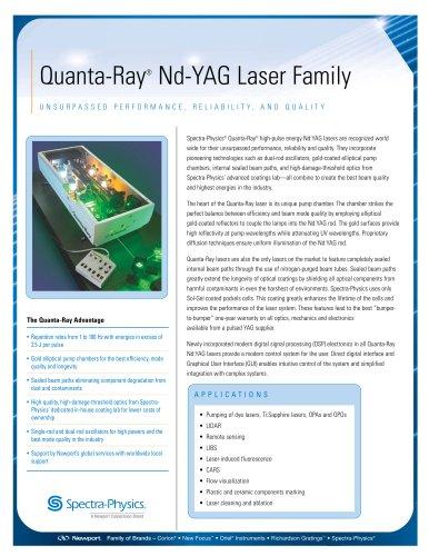 Quanta-Ray® Nd-YAG Laser Family