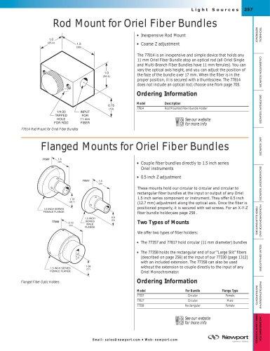 Rod Mount for Fiber Bundles, Flanged Mounts for Oriel Fiber Bundles