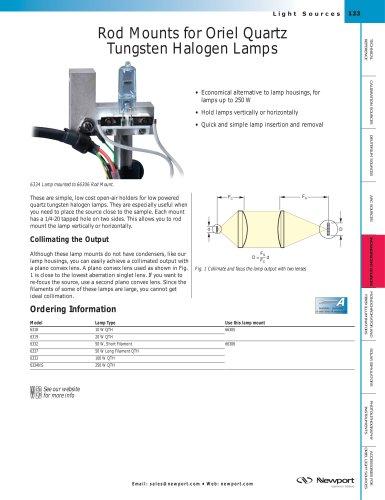 Rod Mounts for Quartz Tungsten Halogen Lamps