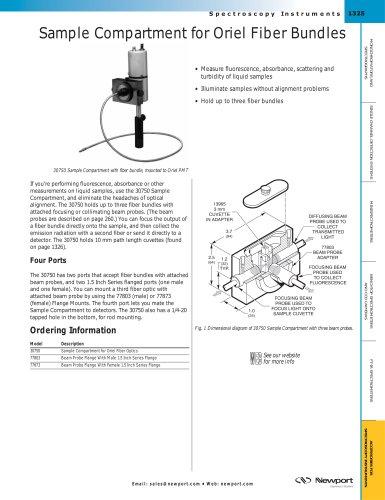 Sample Compartment for Oriel Fiber Bundles