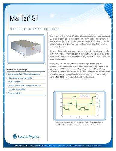 Short Pulse Ultrafast Oscillator-Mai Tai® SP