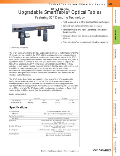 ST-UT Series Upgradable SmartTable® Optical Tables featuring IQ® Damping Technology
