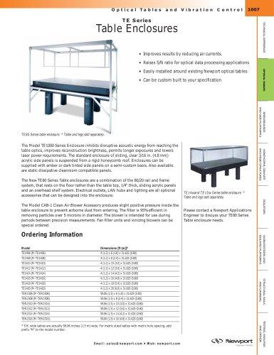 TE Series Table Enclosures