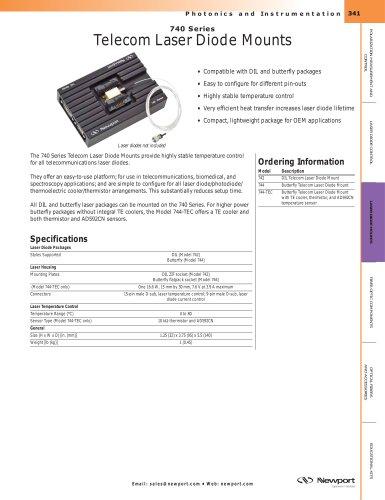 Telecom Laser Diode Mounts, Series 740