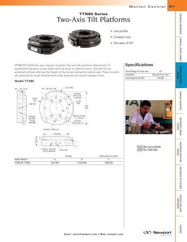 TTN80 Series Two-Axis Steel Tilt Platforms with Aperture