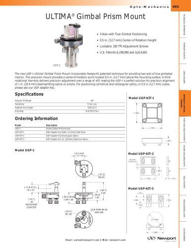 ULTIMA® Gimbaled Three-Axis Optic Tilt Mount