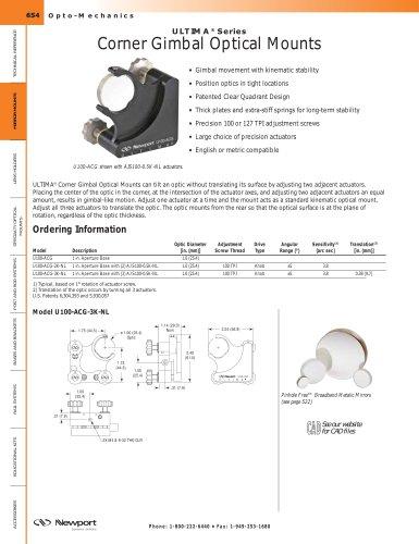 ULTIMA® Series Corner Gimbal Clear Quadrant Optic Mounts