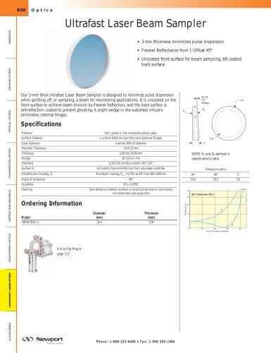 Ultrafast Laser Beam Sampler