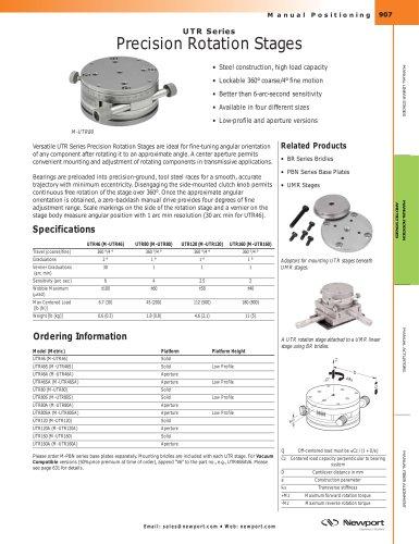 UTR Series Precision Rotation Stages