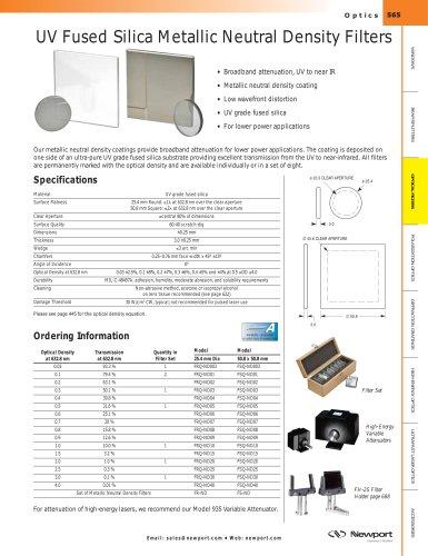 UV Fused Silica Metallic Neutral Density Filters