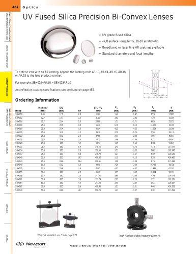 UV Fused Silica Precision Bi-Convex Lenses
