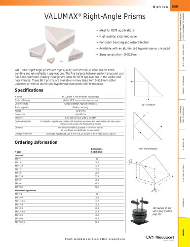 VALUMAX® Right-Angle Prisms