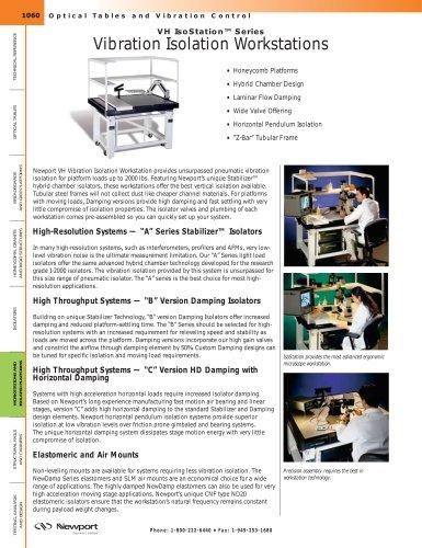 VH IsoStation™ Series Vibration Isolation Workstations