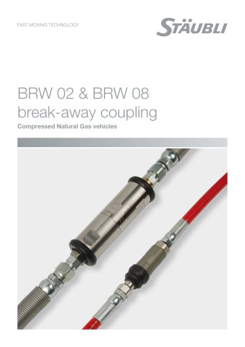 BRW 02 & BRW 08 break-away coupling - Compressed Natural Gas vehicles