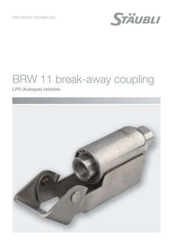 BRW 11 break-away coupling - LPG (Autogas) vehicles