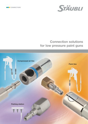 Connection solutions for low pressure paint guns