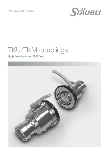 Full flow couplings - TKU/TKM