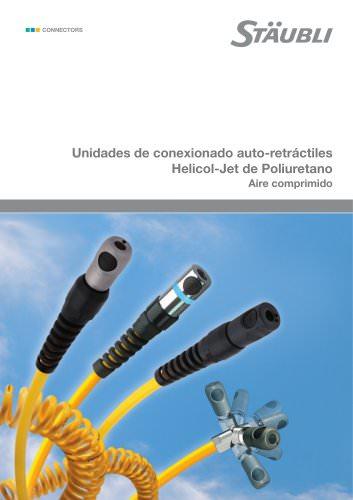 Unidades de conexionado auto-retráctiles Helicol-Jet de Poliuretano Aire comprimido