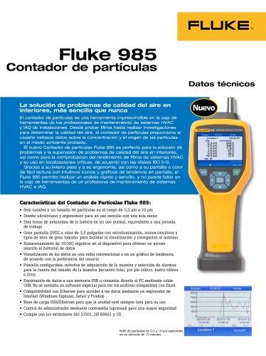 Fluke 985 Contador de partículas