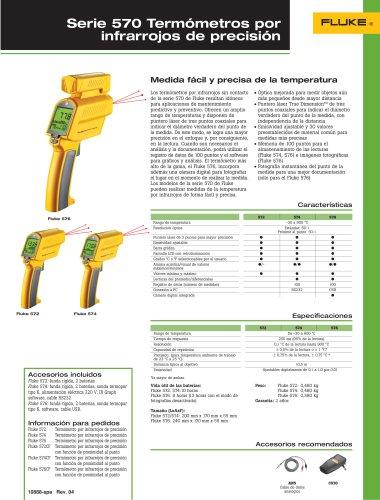 Termómetros por infrarrojos de precisión de la serie 570 de Fluke
