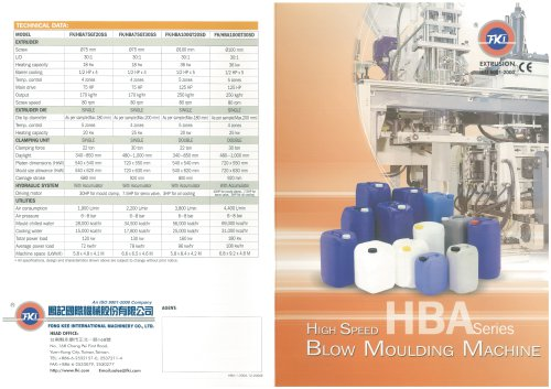 High speed Blow Moulding Machine