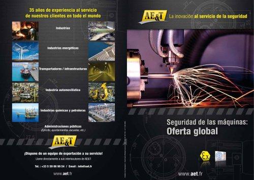 seguridad de las máquinas : oferta global