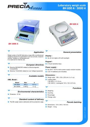 BH 600 A / BH 3000 A - Laboratory scales